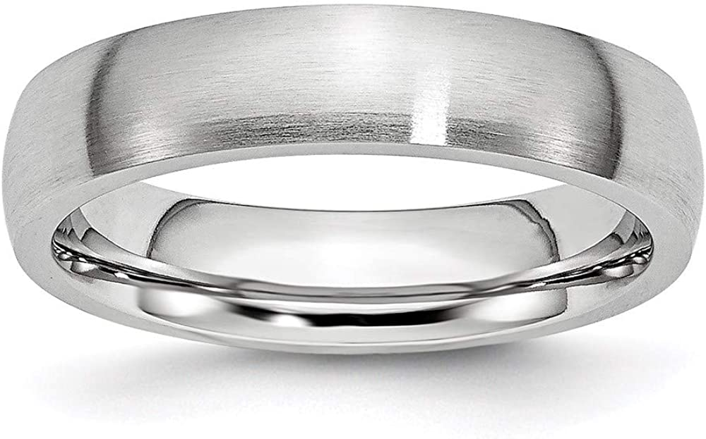 ICE CARATS Cobalt 5mm Half Round Wedding Ring Band Classic Domed Fashion Jewelry for Women Gifts for Her