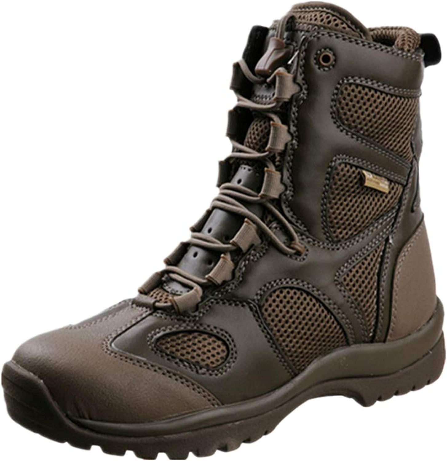 DSFGHE Men's Boots Patrol Military Tactical High Top Lace-ups Boots Breathable Outdoor Combat BootsLightweight