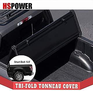 HS Power 2019+ for Dodge Ram 1500 5.7 Ft Short Bed Black Tri Fold Soft HD Vinyl Tonneau Cover