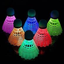 Badminton Birdie,6 stks Professionele LED Badminton Shuttles Lichtgevende Badminton Sets Glow in Dark lichtgewicht Nylon S...