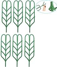 WINGOFFLY DIY Garden Plant Pot Mini Climbing Trellis Plant Support(6 Pack)