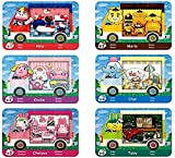 6 Pack Sanrio NFC Tag Game Cards, Collaboration Pack for Animal Crossing, Fully Compatible with Switch/Switch Lite/New 3DS (Normal Size)