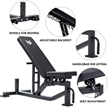 MEVEM Adjustable Exercise Weight Bench Utility for Home Use-Incline,Decline and Flat Workout Bench for Full Body Strength Training -1,000 lb Rated