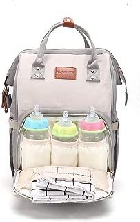Voyagetimeママバッグ マザーズリュックサック 大容量 usb充電ポートと保温ポケット付き 赤ちゃん用品収納 ママ旅行用バッグ 出産準備 祝い