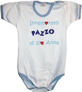 BODY INNAMORATO/A Di MIA ZIA con nome o scritta personalizzata