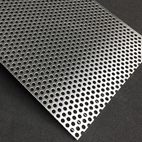 Lochblech Edelstahl RV5-8 V2A K240 1,5mm Zuschnitt individuell auf Maß NEU günstig (500 mm x 400 mm)