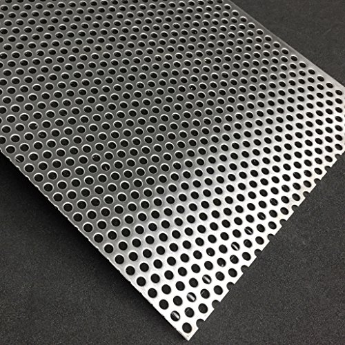 Lochblech Edelstahl RV5-8 V2A K240 1,5mm Zuschnitt individuell auf Maß NEU günstig (500 mm x 250 mm)