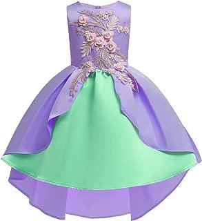 Aunavey Baby Girl Princess Backless Dress Sparkling Sequins Ruffle Wedding Party Dress