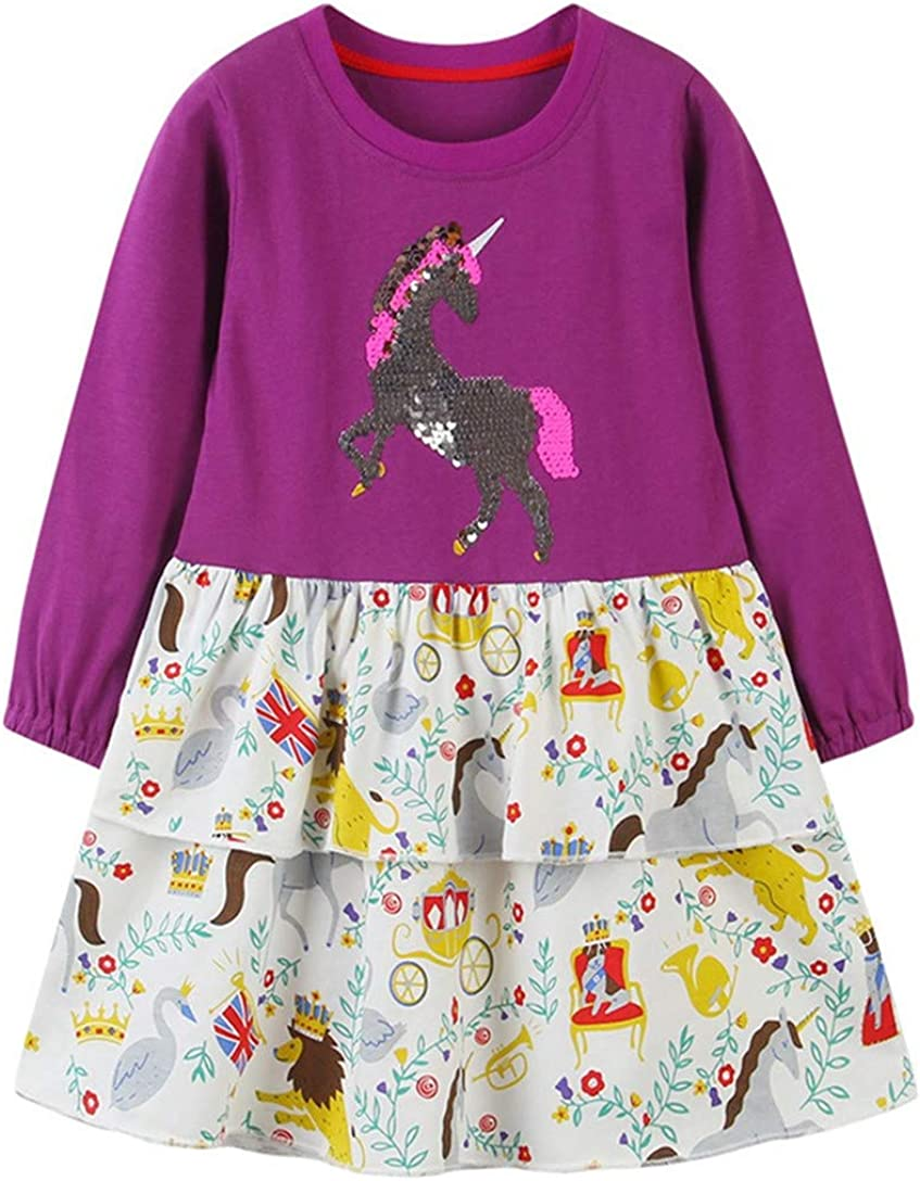 HILEELANG shipfree Girl safety Dress Long Sleeve Tulle Cotton Christ Casual Tutu