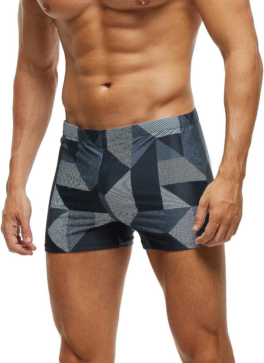 SALENT Men's Square Leg Athletic Swimsuit Swim Trunk Swimwear Bathing Suit Board Short