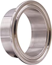 DERNORD Stainless Steel 304 Sanitary Fitting, Long Weld Clamp Ferrule Fits Tri Clamp 2