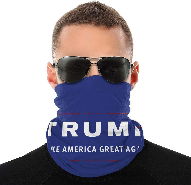 Men Women Unisex Trump Make America Great Again Neck Gaiter Face Mask Reusable, Headband Washable Bandana Face Mask, Sun Dust Protection Cover Balaclava Scarf Shield