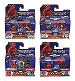Minimates Marvel Series 73 Spider-Man pelcula de regreso a casa, juego completo de cuatro paquetes de 2 (8 figuras)
