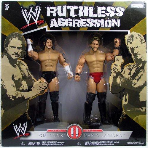 WWE Jakks Pacific Wrestling Ruthless Aggression Series 11 Action Figure 2-Pack CM Punk Vs. Chris Jericho