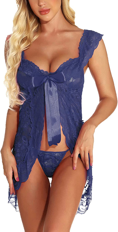Women's Underwear Rapid rise Sheer Lingerie Dress Floral Outlet SALE Front Closure Lace