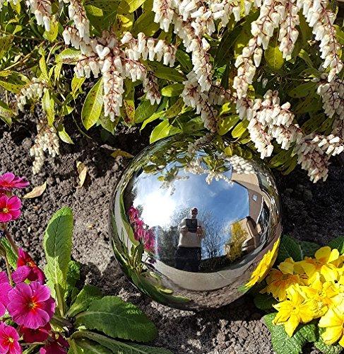 garten-wohnambiente Kugel aus Edelstahl 20 cm poliert Dekokugel Dekorationskugel Edelstahlkugel