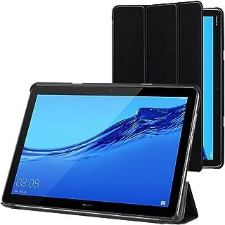 ebestStar - Funda Compatible con Huawei MediaPad M5 Lite 10.1 Carcasa Cuero PU y Silicona, Smart Cover Función de Soporte, Reposo Automático, Negro [M5 Lite 10.1: 243.4 x 162.2 x 7.7mm, 10.1'']