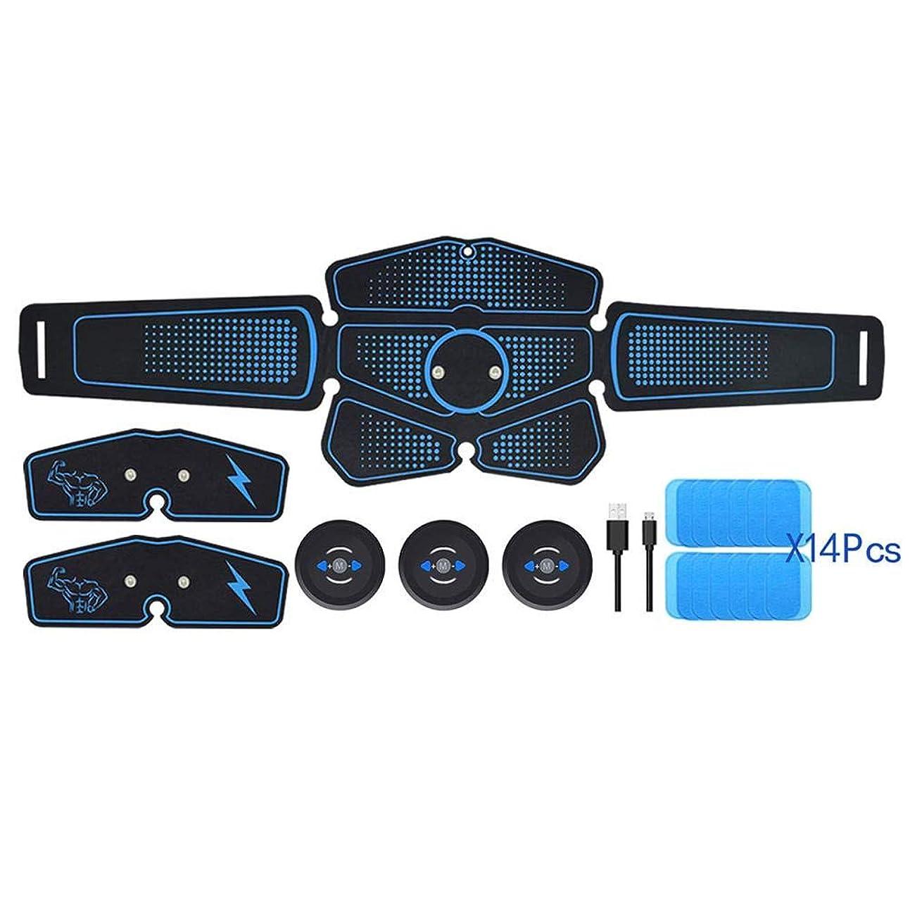 ネズミセクションそのLing(リンー)-スポーツ 腹筋ベルト 腕筋 腹筋 筋肉訓練器具 USB充電式 10段階強度 6つモード 軽量 快適 耐摩耗性 使用しやすい