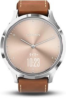 GARMIN(ガーミン) vivomoveHR Silver Tan Leather スマートウォッチ 活動量計 防水 【日本正規品】