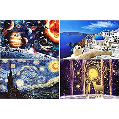 Amazon - Save 60%: teraut Jigsaw Puzzles Pack of 4 – Each 1000Pcs, 28″ X 20″ Puzzle for Adults Kids…