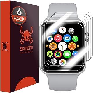 Skinomi TechSkin - Protector de Pantalla para Apple Watch (38 mm). Compatible con Apple Watch Series 3, Series 2 y Series ...