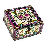 World Buyers Skull Decoratiove Glass Box...