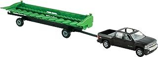 TOMY ERTL Big Farm 1:16 Chevy Pickup con John Deere 512C Cabeza de maíz y Carrito de cabecera