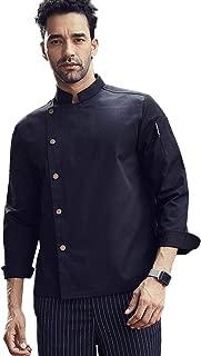 Long Sleeve Fastener Chef Coat Hotel Restaurant Kitchen Chef Work Jacket