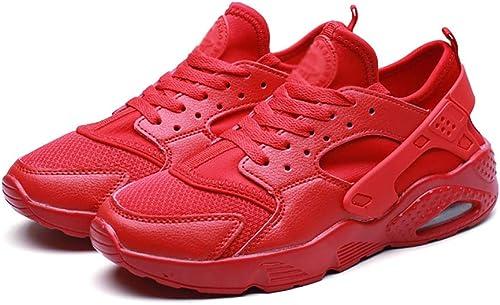 ZYFA Laufschuhe Freizeitschuhe für Herren und Damen aus Leder mit flachen Laufschuhen aus Gummi (Farbe   C, Größe   44)
