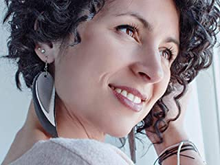Grey Feather Leather Earrings, layered earrings, tribal Earrings, Boho earrings, dangle earrings, long earrings