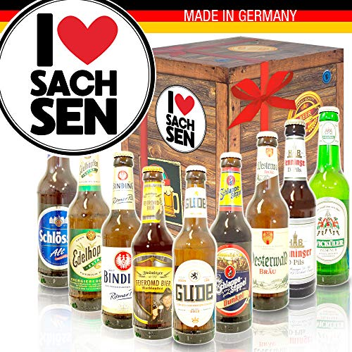 I Love Sachsen/Biere aus Deutschland/Geschenkset Sachsen
