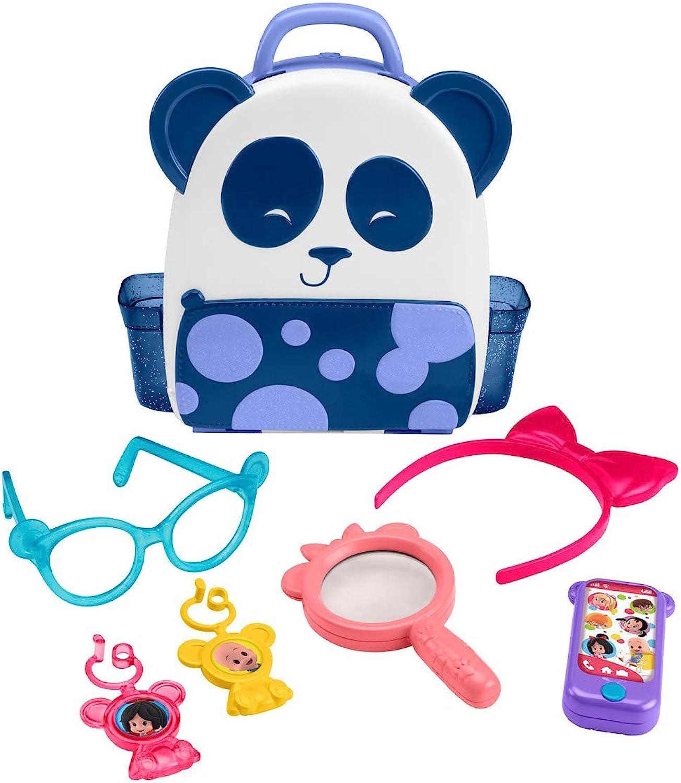 Fisher Price Cuquin Cleo′s Panda Bag Figures, Multi color