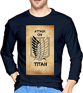 STDONE Casual Top Attack On Titan Scout Legion Logo Long Sleeves Shirts for Man Black