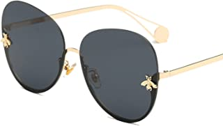 2018 half frame small bee large frame thin concave men and women glasses