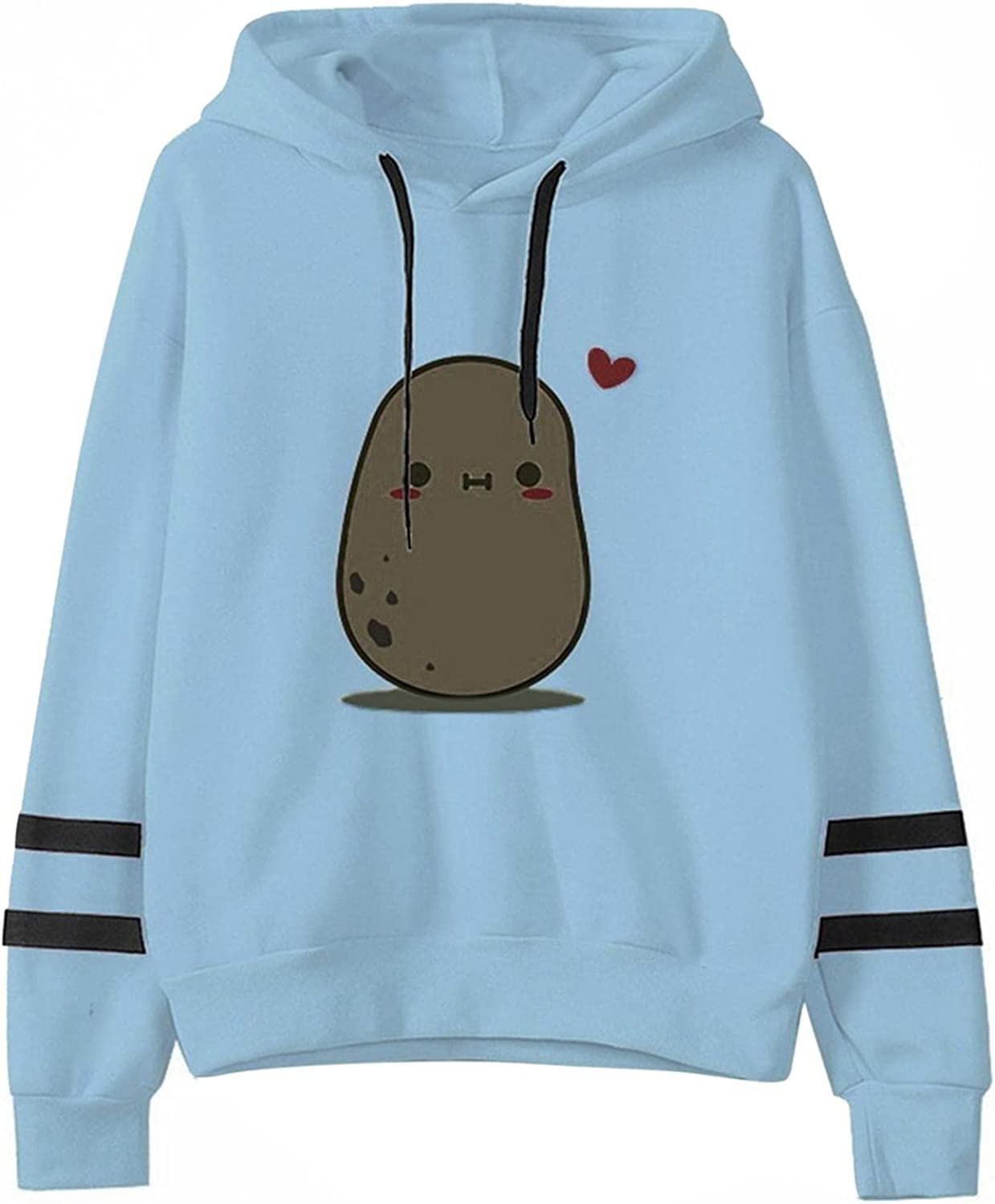 POLLYANNA KEONG Sweatshirts for Women Hoodie,Cute Frog Graphic with Pocket Loose Long Sleeve Casual Pullover Tops Blouses