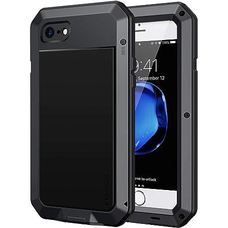 Focusor Coque iPhone 7/ iPhone Se(2020) / iPhone 8, [Antichoc & Renforcé] [Metallique] Incassable Solide Blindé Coque 360 degré Full Body Heavy Duty ...