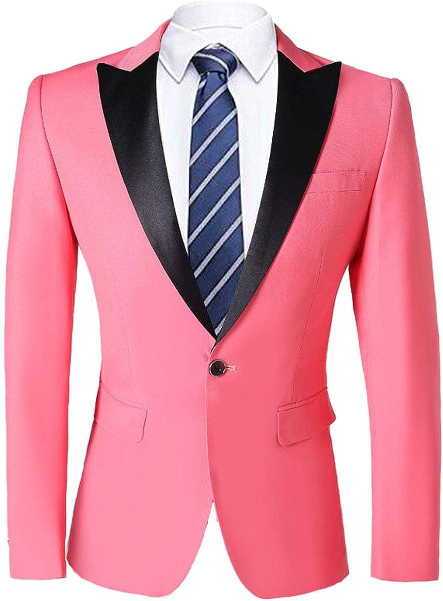 PYJTRL Mens Fashion Casual Quality Suit Jacket Slim Fit Blazer