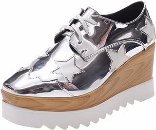 6d810bdc2f4 Moonwalker Women s Leather Wedge Oxfords Square Toe
