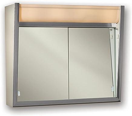 Jensen 124LPX Lighted Sliding Doors Medicine Cabinet,  24 x 23.5