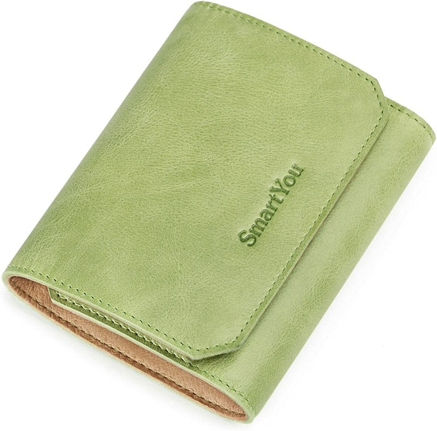 Sturdy Women's Leather Mini Zero Wallet Purse Hand Handbag Light Screens More Practical Large Capacity (color   Green)