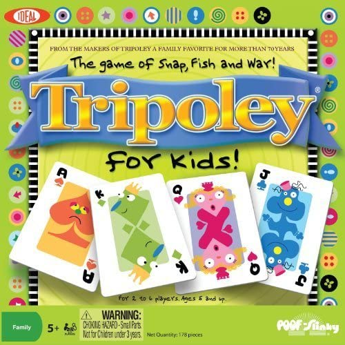 mejor servicio Ideal Tripoley for Kids- Snap, Fish and War War War Card Game by Ideal  ventas en linea