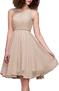 99Gown Long Cocktail Dress One Shoulder Floor Length Prom Formal Dresses for Women Bridesmaid Dresses Short