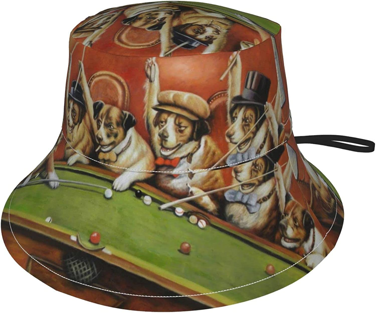 Super sale Atlanta Mall period limited Dogs Playing Pool Kids Sun Breathable Hat Adjustable Bucket