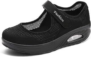 Sandales Femme Mailles Chaussures de Baskets Mode Compensées Fitness Femmes Minceur Chaussures Taille 35-42eu Plate-Forme ...