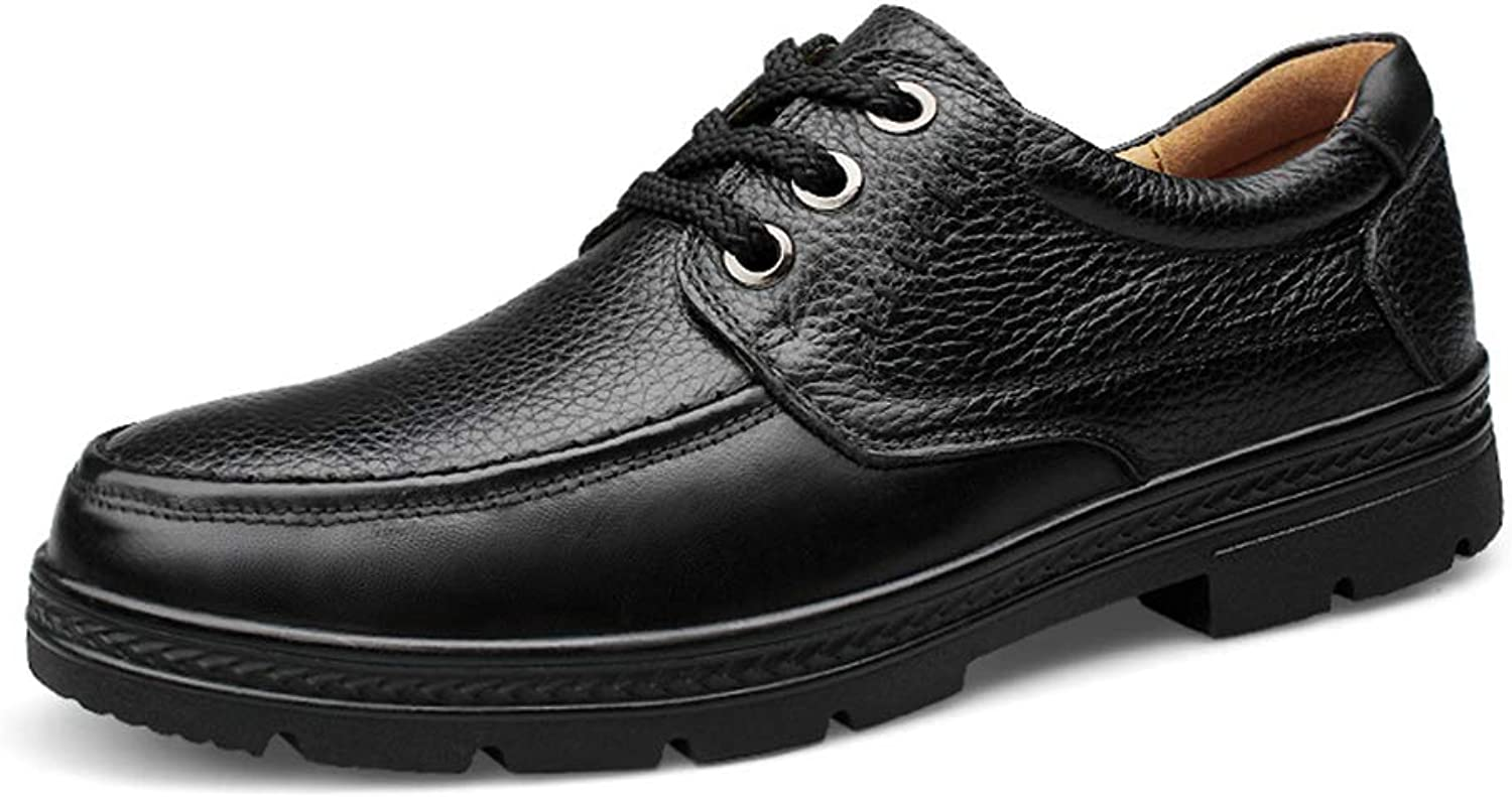 Men's Business Oxford Casual Autumn and Winter New Rubebr Outsole Formal shoes (color   Black, Size   10.5 D(M) US)