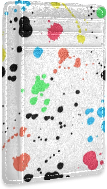 Slim Minimalist Leather Wallet Front Miami Mall Max 47% OFF Blocking RFID Credi Pocket