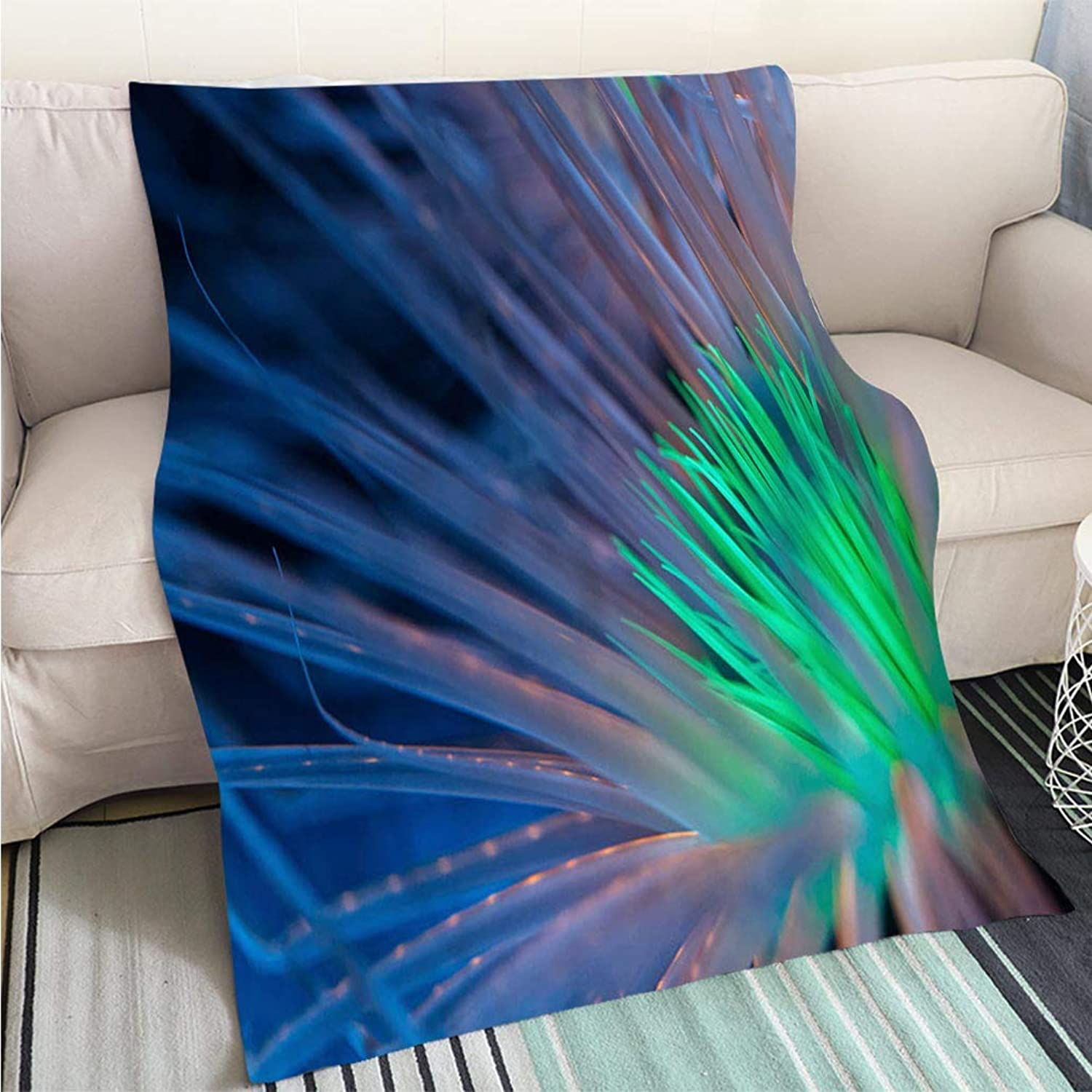 Home Digital Printing Thicken Blanket Bioluminescent Anemone Perfect for Couch Sofa or Bed Cool Quilt
