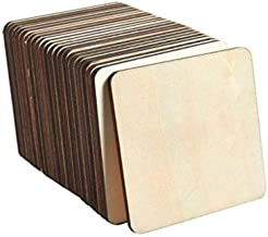 Fiddlys Blank Square Wooden Coasters for Painting , Cutting & DIY Crafts (75 Pcs)
