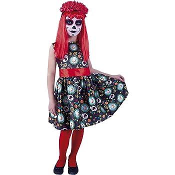 Rubies- Disfraz infantil Guadalupe Día de los Muertos, L (8-10 ...