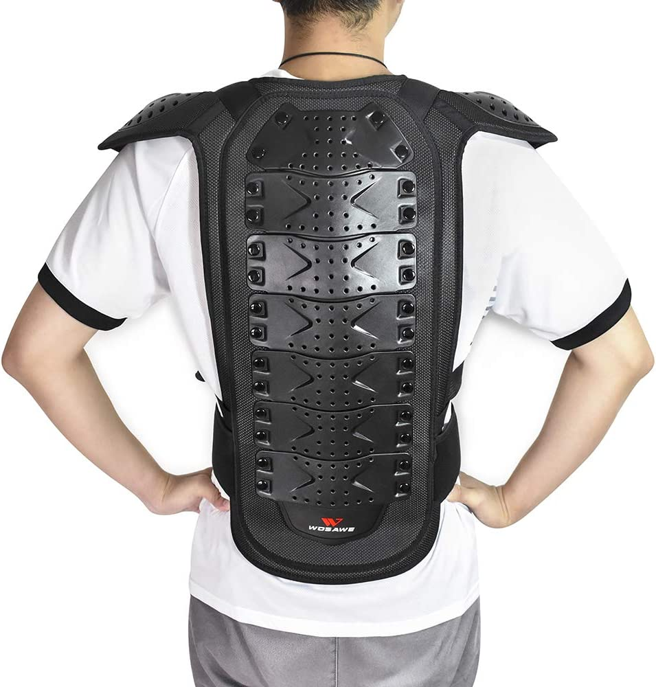 Medium WOSAWE Adults Motorcycle Body Armor ATV Protective Vest Dirtbike Chest Back Protector